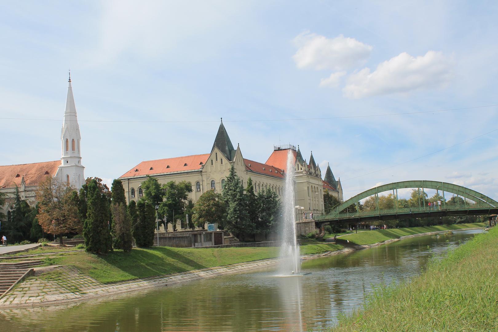 Zgrada suda i most u Zrenjaninu
