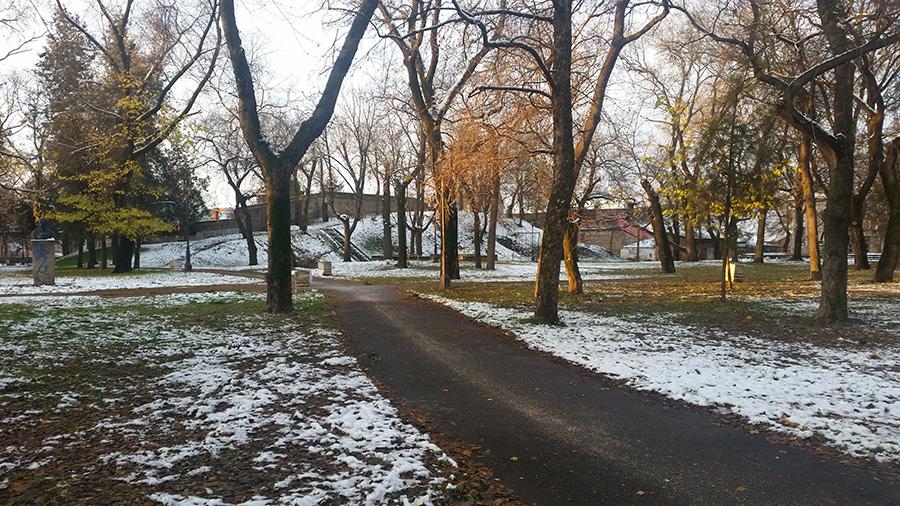 Zrenjanin, park kod doma omladine
